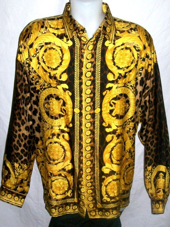 Chemise homme style versace