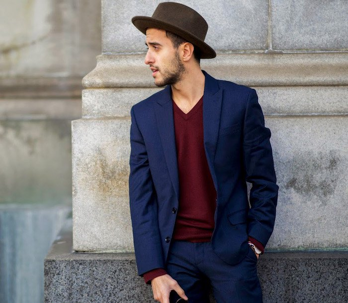 Costume casual chic homme