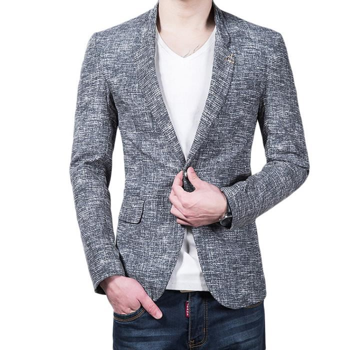 Costume coton lin homme solde